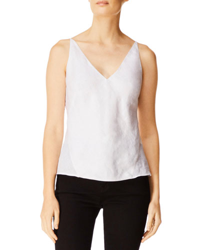 Lucy V-Neck Linen Camisole Top