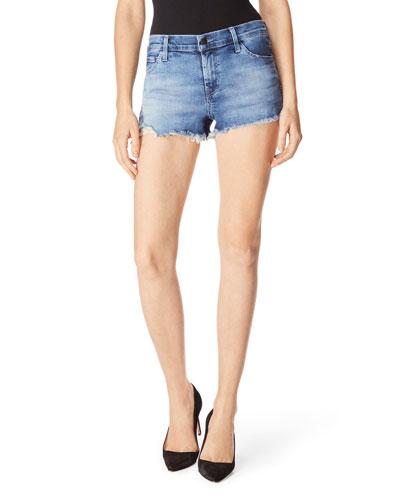 1044 Mid-Rise Cutoff Denim Shorts