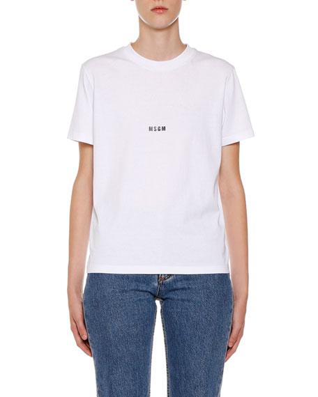 Crewneck Short-Sleeve Cotton Logo T-Shirt