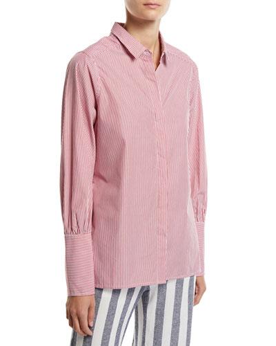 Miranda Striped Button-Down Blouse