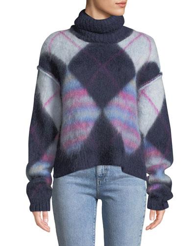 Chunky Mohair Turtleneck Sweater
