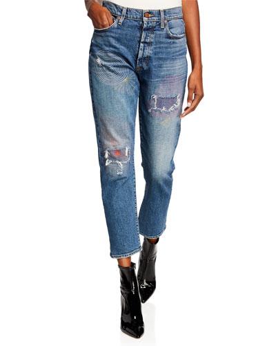 Amazing High-Rise Slim Girlfriend Jeans