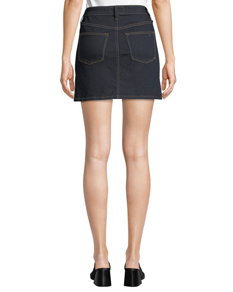 The Mashed Two-Tone Denim Mini Skirt