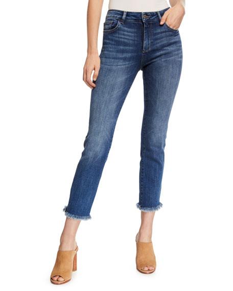DL1961 Premium Denim Mara Ankle Mid-Rise Straight Jeans