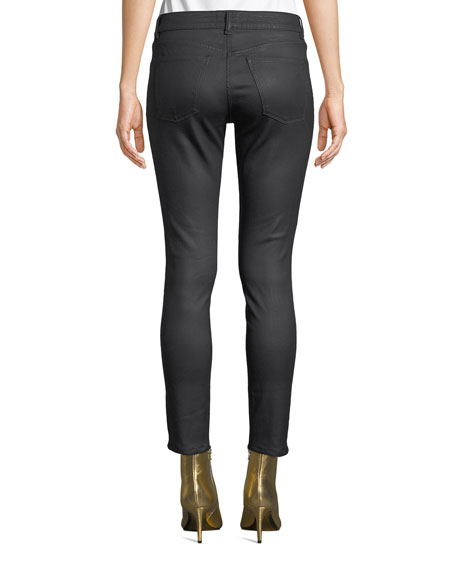 Florence Ankle Mid-Rise Coated Skinny Jeans