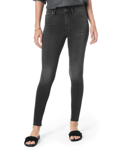 The Charlie Ankle High-Rise Skinny with Hidden Zipper