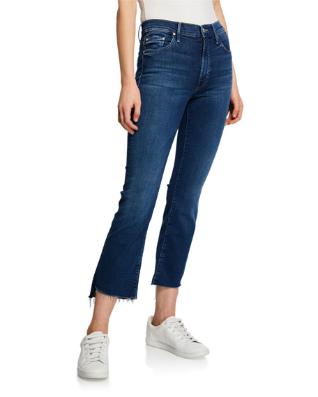 The Insider Crop Step-Hem Jeans W/ Frayed Hem in Turn Of The Tide