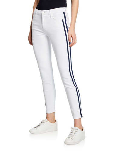 The Looker Ankle Skinny Jeans w/ Racer Stripes