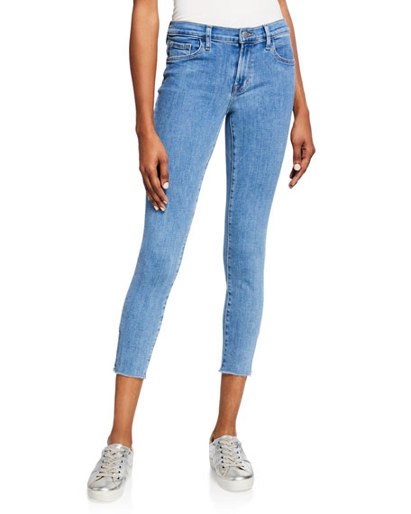 J Brand 835 Mid-Rise Crop Skinny Jeans with