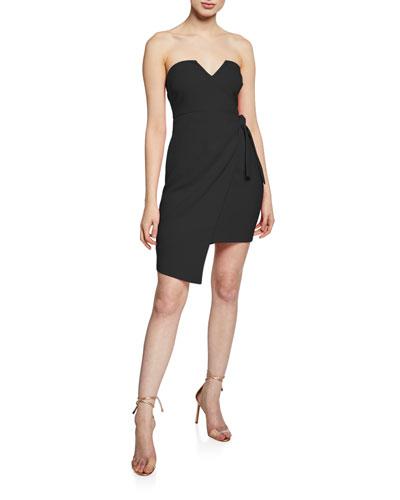 Wynonna Strapless Side-Tie Cocktail Dress