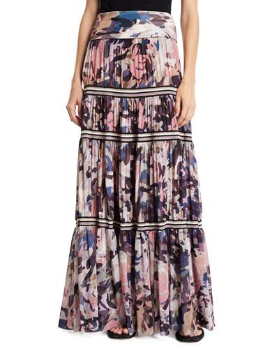 16ba413279cd Long Camouflage-Print Convertible Skirt/Strapless Dress