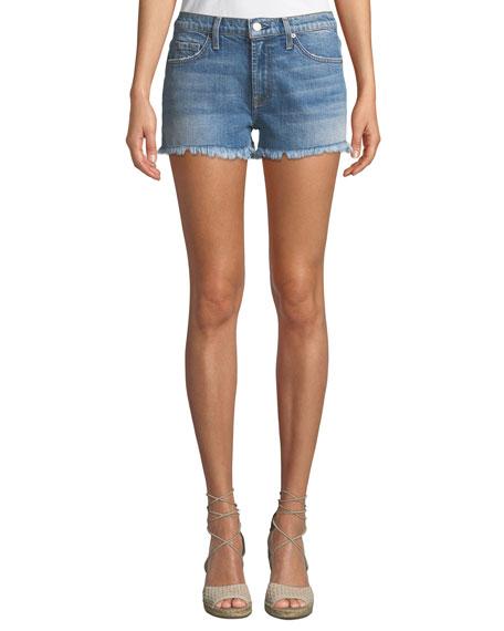 Embellished Cutoff Denim Shorts