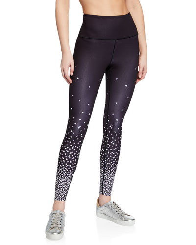 falling hearts high-rise active leggings