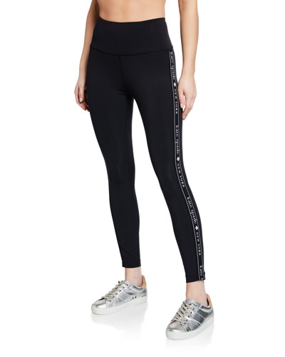 high-rise logo active leggings