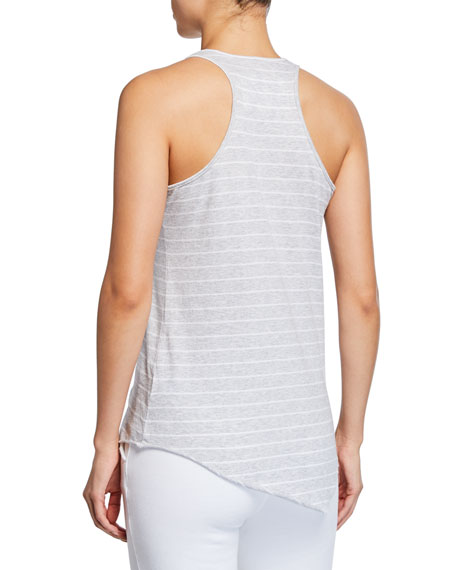 Base Layer Stripe Scoop-Neck Cotton Tank