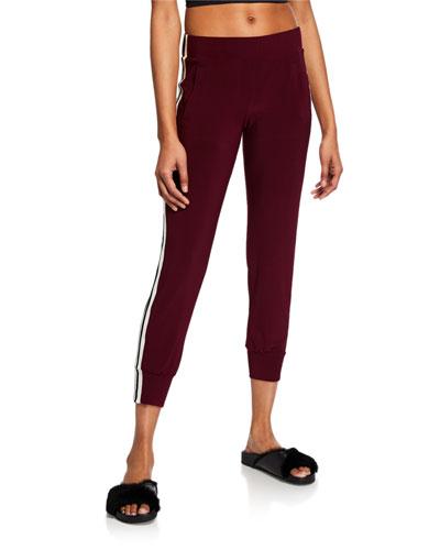 Mid-Rise Side-Striped Jog Pants