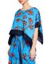 Diane von Furstenberg Banded Hanky Cropped Floral Coverup