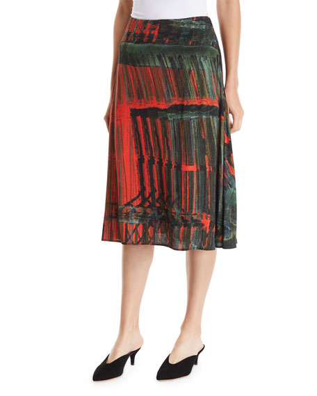A-Line Patterned Multi Skirt