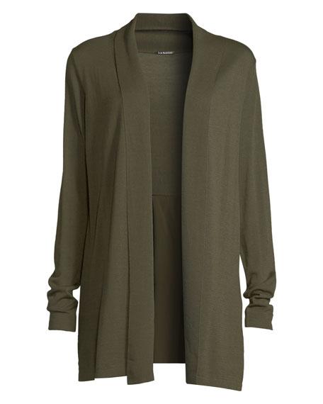 Adele Shawl-Collar Merino & Silk Cardigan Sweater