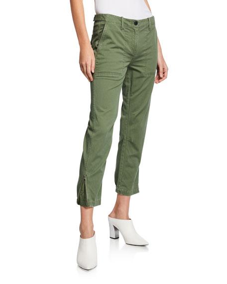 Cropped Utility Pants w/ Elastic Cuffs
