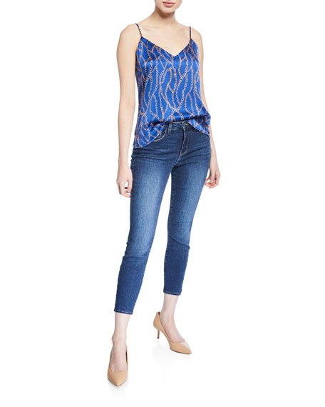 Margot High-Rise Skinny Ankle Jeans, Sky
