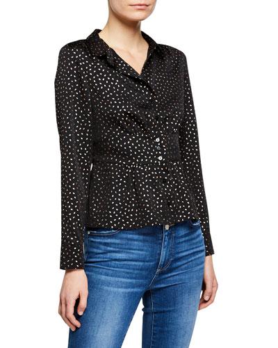 Glorio Printed Button-Front Shirt