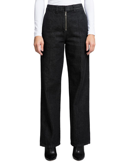Prps HIGH-RISE WIDE-LEG JEANS WITH EXPOSED FLY