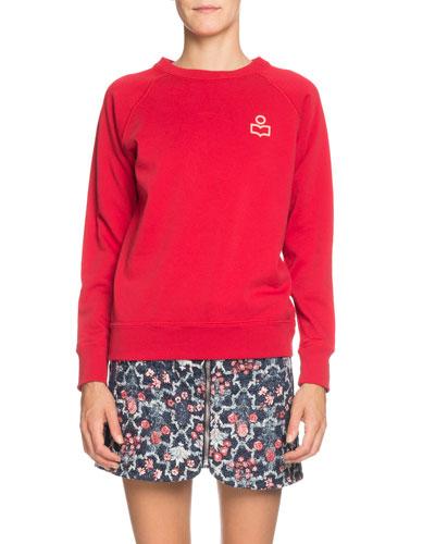 Milly Logo Raglan Pullover Sweatshirt