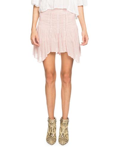 Akala Embroidered Asymmetrical Short Skirt