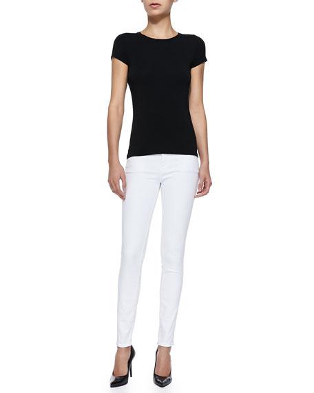 Le Color Skinny Denim Jeans, Blanc De Blancs