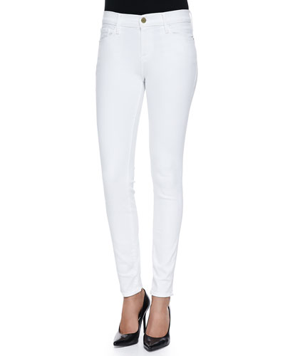 Le Color Skinny Denim Jeans  Blanc De Blancs