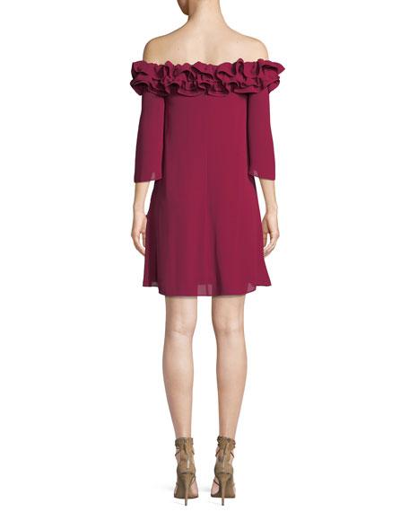 Flowy Mini Dress w/ Ruffle Trim