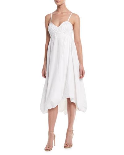 Sleeveless Empire-Waist Cotton Bubble Dress