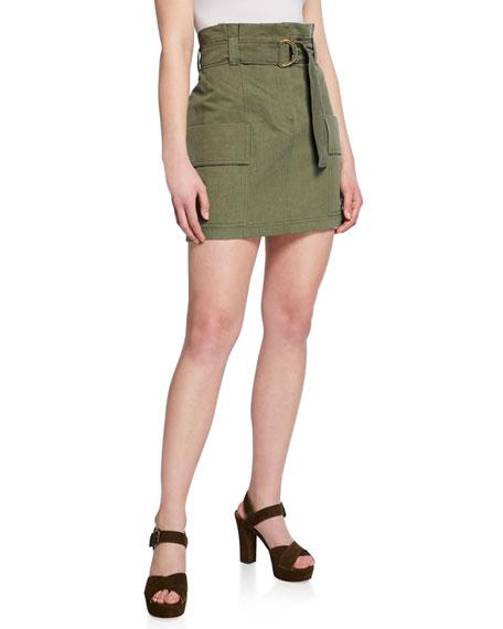 A.l.c Skirts KELSEY HIGH-RISE PLISSE WRAP SKIRT