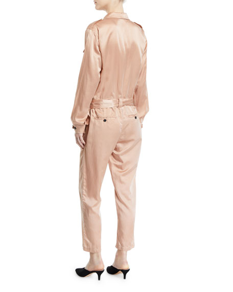 Jeter Silk Satin Jumpsuit