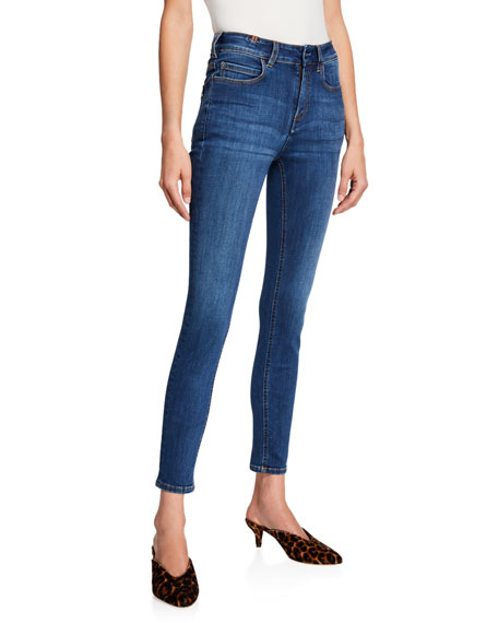 NOTIFY Bamboo Skinny High-Waist Jeans in Medium Blue