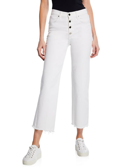 Rag & Bone Justine Cropped Wide-Leg Jeans with