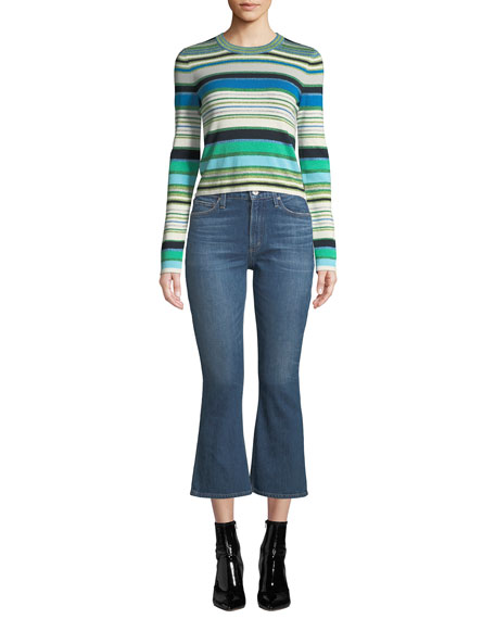 Demy High-Rise Cropped Flare-Leg Jeans