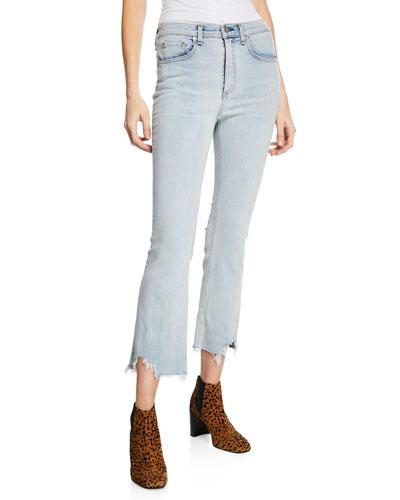 Hana High-Rise Cropped Straight-Leg Jeans