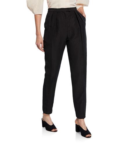 New Joust Pleated High-Waist Pants