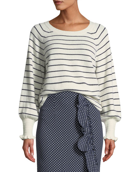 Cozy Wool-Cotton Striped Sweater