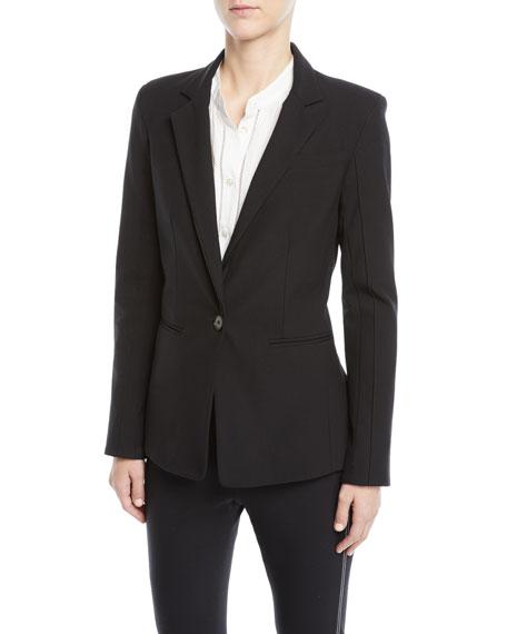 Bowery Single-Button Stretch Twill Blazer