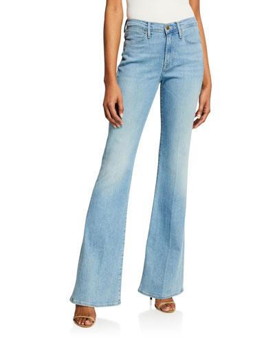 Le High Flare-Leg Jeans