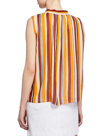 Sleeveless Striped Raglan Top