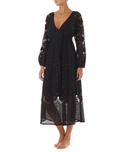 Melissa Lace Long-Sleeve Coverup Dress