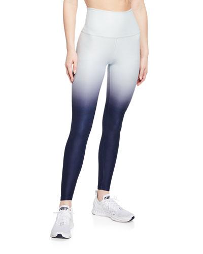 Space-dye High-Waist Ombre Performance Leggings