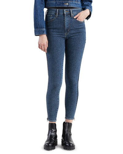 Mile High Mid-Rise Skinny Jeans with Side Zippers