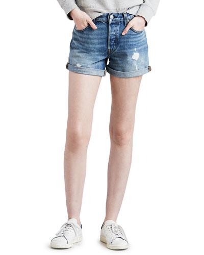 501 Distressed Denim Shorts