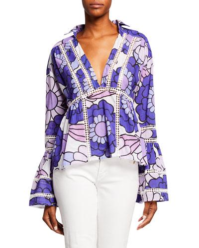 Enid Floral-Print Cotton Shirt