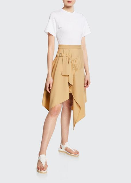 3.1 Phillip Lim Short-Sleeve Wool Handkerchief Tee Combo